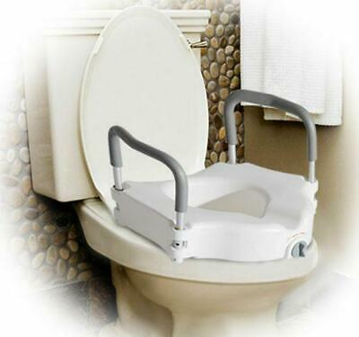 Raised Toilet Seat Padded Arms Portable Removable White Mobility Toilets Seats