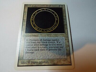 MAGIC THE GATHERING UNLIMITED CARD CIRCLE OF PROTECTION: BLACK ex