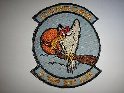US Army C TROOP 2nd Squadron 17th Cavalry Regiment CONDORS Vietnam War Patch