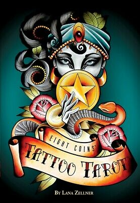 Eight Coins' Tattoo Tarot Deck with 188 Page Book by Lana Zellner USGS
