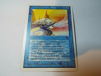 MAGIC THE GATHERING UNLIMITED CARD SIREN'S CALL ex-nm