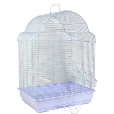 Budgie Canary Finch Cocatiel White Bird Cage Removable Tray Perches Flight Cage
