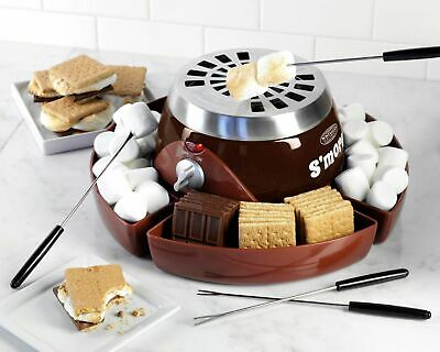 Stainless Steel Nostalgia Electric S'mores Maker- SMM200