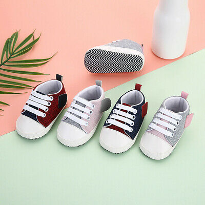 Newborn Baby Kid Girl Boy Splicing Bandage Soft Sole Casual Shoes Single Shoes L