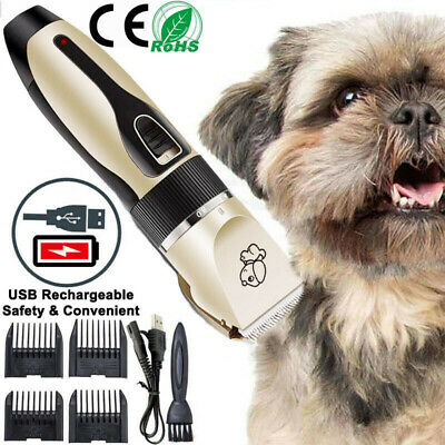 Rechargeable Cat Dog Clipper Cordless Pet Clipper Hair Shaver Grooming Trimmer
