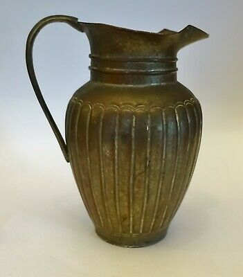 efg13 CHINESE COPPER & tin wash HANDMADE PITCHER JUG