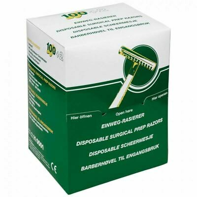 Disposable Surgical Prep Single Blade Razor, Pack of 100
