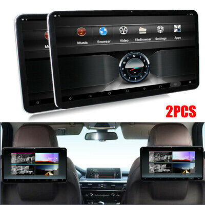 2x Android 7.1 Car Headrest Rear Seat Monitor Player 12.5'' HD1080P Touch Screen
