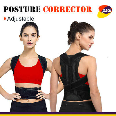 Posture Corrector Women Men Back Support Shoulder Strap Brace Humpback Belt AU