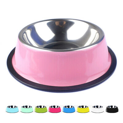 1PC Stainless Steel Pet Dog Cat Food Water Bowl pets Feeder Travel Feeding Dish