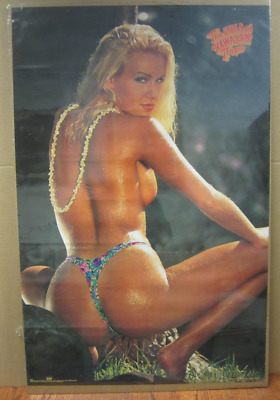 MONICA SOARES FREE SHIPPING #2500  LP44 O POSTER MISS HAWAIIAN TROPIC 1994