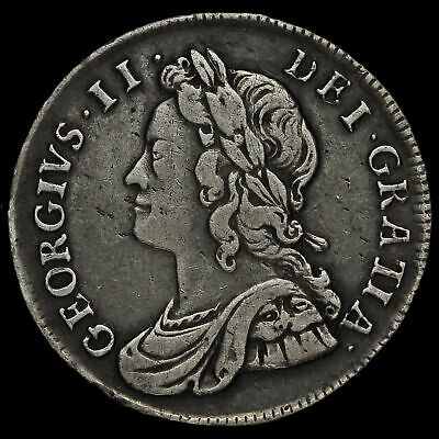 1737 George II Early Milled Silver Maundy Fourpence