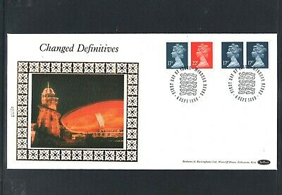 GB Machin FDC 7/8/90 Changed Defins 17p 22p  Imferf L&R +  P/M Windsor Berks