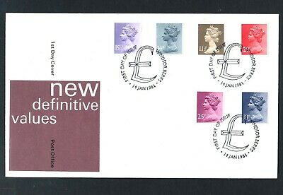 GB Machin FDC14/1/81 New Defins 2.5p,11.5p,14p,15.5p,18p,25p, P/M Windsor Berks*