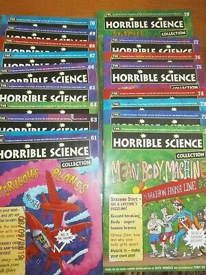 Horrible Science Magazine Collection Issue Numbers 61-80 consecutive 20 magazine