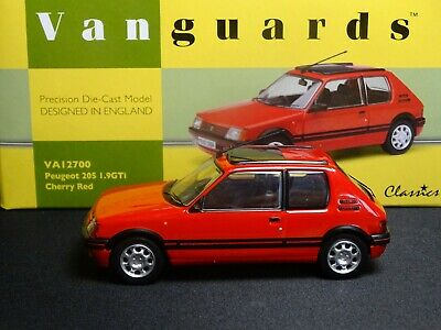 Wow Extremely Rare 1/43 Corgi Vanguards Peugeot 205 Gti Cherry Red Nla