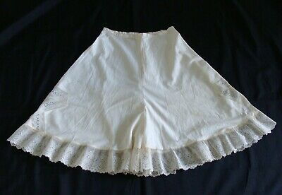 Antique Edwardian Bloomers Panties Cotton with Lace Trim Closed Crotch