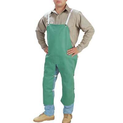 "Tillman 6336 24""X36"" 9 oz. Green Flame Resistant Cotton Split-Leg Bib Apron"