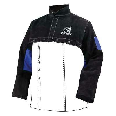 Black Stallion JL1021-BB Color Block Leather Cape Sleeves, Small
