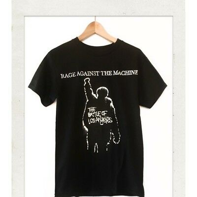 Rage Against The Machine THE BATTLE OF LOS ANGELES Band BLK T Shirt Mens S-2xl