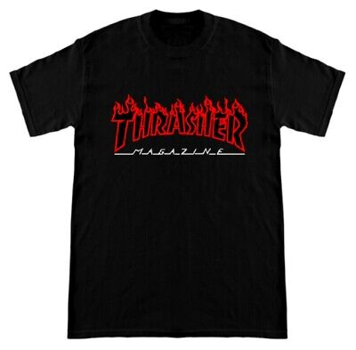 NWT Brand New Thrasher Mag Flame Tees - Black & White NEW CUSTOM MADE LIMITED