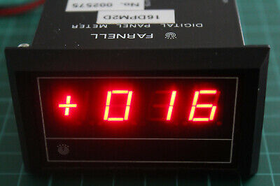Farnell Panel Meter – model 16DPM2D, 3½ digit display (fitted with BCD output)