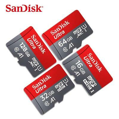 NEW SanDisk New 16GB 32GB 64GB 128GB micro SDHC/XC Flash Memory Card Class10