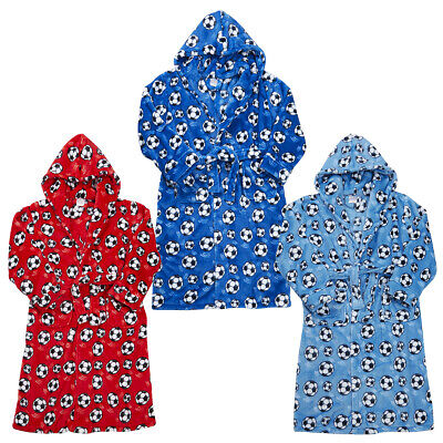 4Kidz Boys Supersoft Fleece Football Dressing Gown