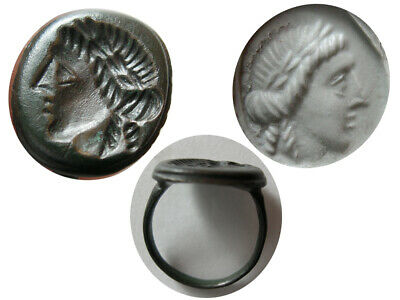 PCW-AN452-ROMAN EMPIRE. Ca. 3rd.-4th.  Century AD. Bronze Seal Ring.