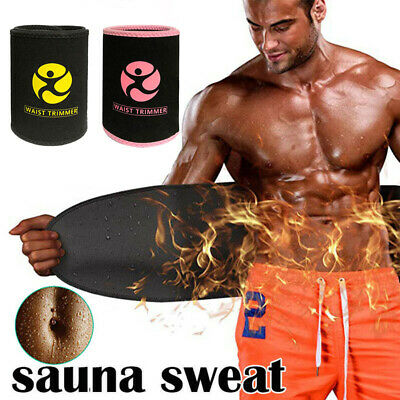 Premium Waist Trimmer for Men Women Trainer Sweat Belt Body Shaper Slimmer Kit