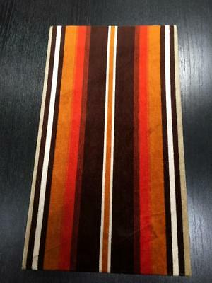 Vintage Retro Velvet Orange Brown Beige  Hand Made Wall Art Ready To Hang