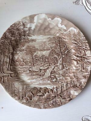 Set Of 5 Vintage Alfred Meakin The Mill Dinner Plates