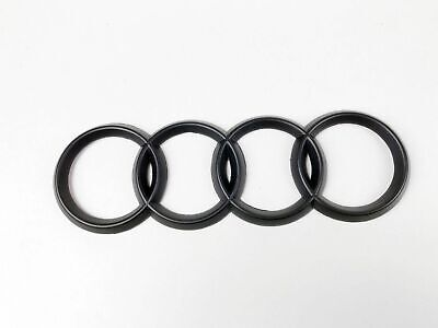 AUDI 4 Rings Logo Decal in Matte Black Brand New RS3 RS4 A3 A4 A5 A6