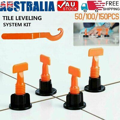 150x Tile Leveling System Clips Levelling Spacer Tiling Tool Floor Wall Wrench