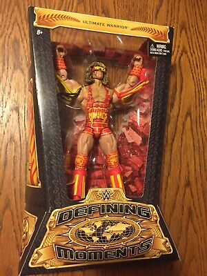 WWE Defining Moments ULTIMATE WARRIOR Wrestling action figure NIB Factory Sealed