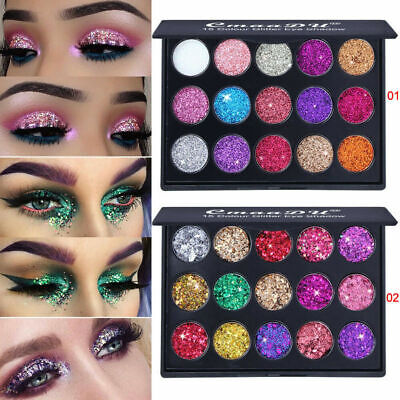 15 Colors Pro Eyeshadow Makeup Kits Shimmer Glitter Eye Shadow Powder Palette