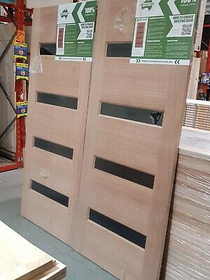 800x2040x40mm Hume Savoy Entrance Solid Timber Front Entry Doors