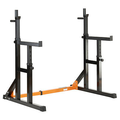 Mirafit Adjustable Squat Rack Dip Stand Weight Gym Bench Power/Lifting SALE #374