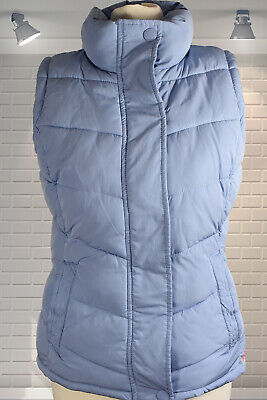 Immaculate Pale Blue Joules Eastleigh Chevron Quilted Gilet Body Warmer UK 8