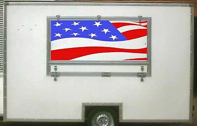 USA Flag Serving Hatch, Burger Van Stickers, Catering Trailer, Cafe, Catering.