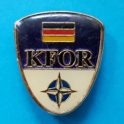 Original German Germany Flag NATO KFOR Army Military Pocket Metal Pin Badge