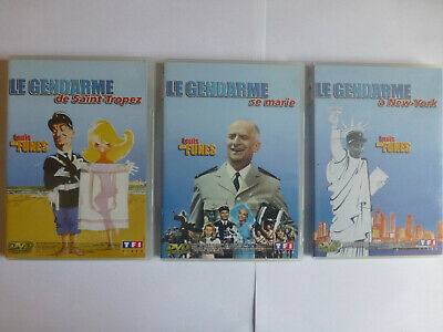 Lot de 3 DVD LE GENDARME A Saint Tropez, Se marie, A New York  en TBE