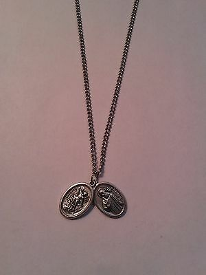 Catholic St Michael Saint Benedict medal chain Spiritual Protection against evil