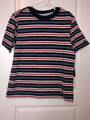 NWT Tommy Hilfiger 3t Boys Shirt Red White Blue Stripe Top 5T Toddlers 4th July
