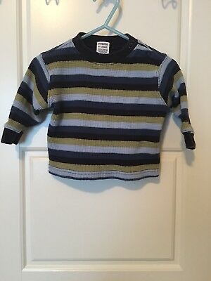 Gymboree Infant Boys size 3-6 Months Striped Long Sleeve Thermal Shirt Henley