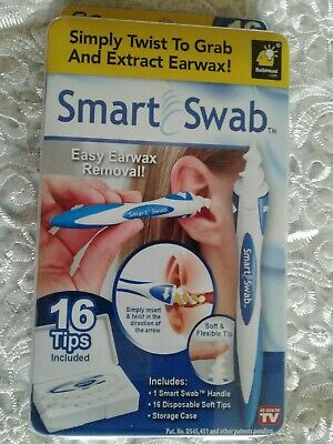 Smart Swab Easy Safe EarWax Removal Spiral Ear Cleaner Soft and Flexible Tips