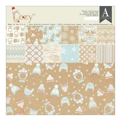 "Authentique Cozy 12x12"" Paper Pad  22pg"