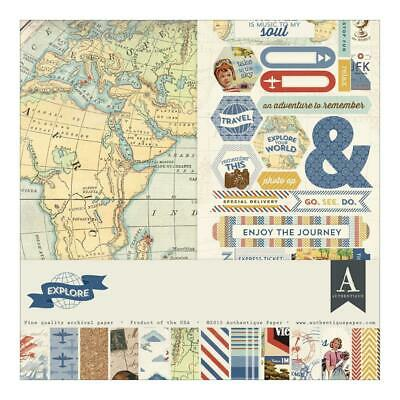 "Authentique Explore 12x12"" Collection Kit   14pc Set"