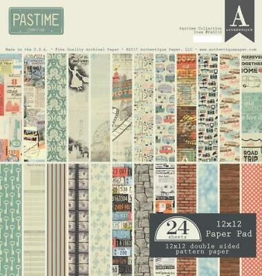 "Authentique Pasttime 12x12"" Paper Pad  24pg"