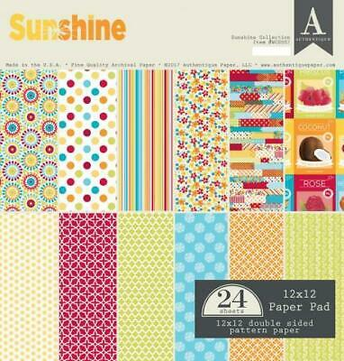 "Authentique Sunshine 12x12"" Paper Pad  24pg"